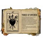 Three of Swords  Κολιέ Κάρτα Ταρό