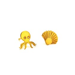 Σκουλαρίκι Χταπόδι / Χτένι